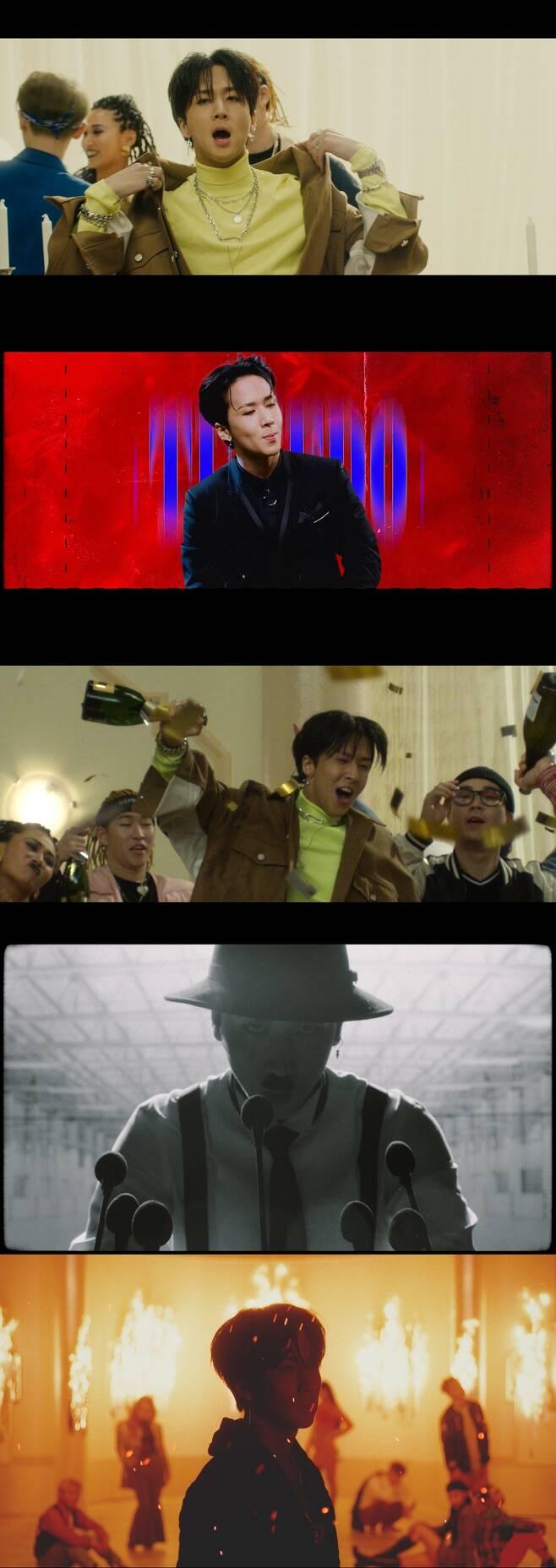 ▲ 빅스 라비의 두 번째 미니앨범 '룩북' 타이틀곡 '턱시도'가 공개됐다. 뮤직비디오 캡처