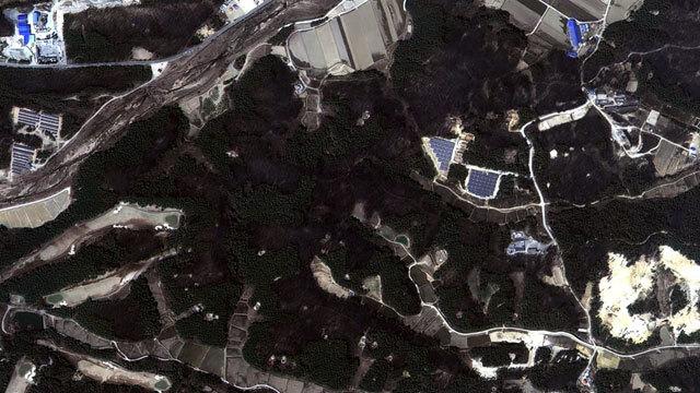 아리랑 3호가 찍어온 고성 속초 지역 위성 사진 (4월 5일 오후 1시)