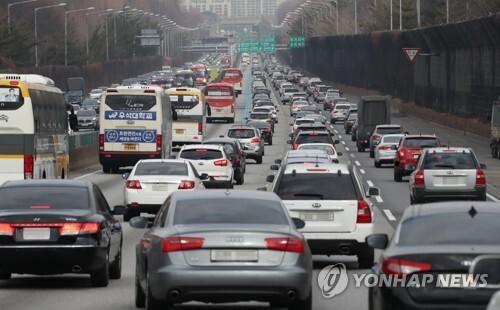 차량 정체 [연합뉴스 자료 사진]