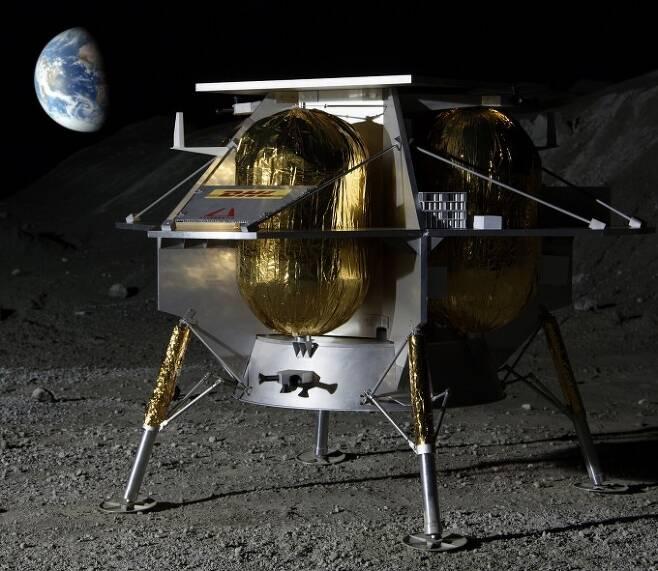 미국항공우주국(NASA)은 달 착륙선 개발 민간기업 3곳을 지원해 달에 과학기술 임무용 화물을 실어 보내겠다는 계획을 발표했다. 세 기업 중 하나인 ′아스트로보틱′의 달 탐사선 상상도다. 아스트로보틱 제공