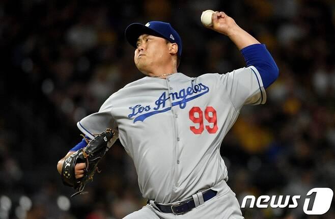 LA 다저스 류현진. © AFP=뉴스1
