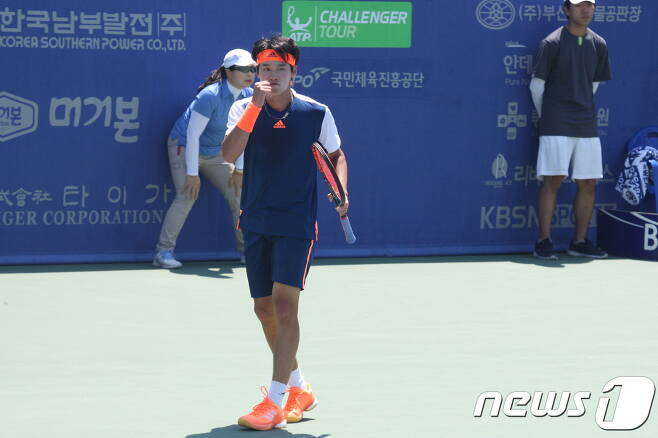 메이저 테니스대회 윔블던에 출전한 권순우. (제공=테니스코리아) © News1