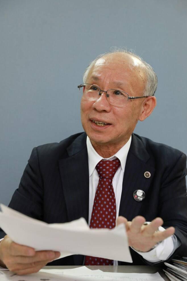 우쓰노미야 겐지 전 일본변호사협회 회장. 류유종 기자