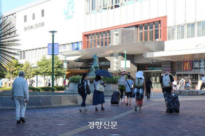 오카야마현 오카야마시의 오카야마역 앞. 윤희일 선임기자