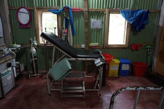 에이팟방글라데시가 운영하고 있는 병원에 설치된 분만실의 모습.