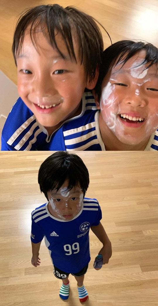 문정원 쌍둥이(사진=문정원 인스타그램 캡처)