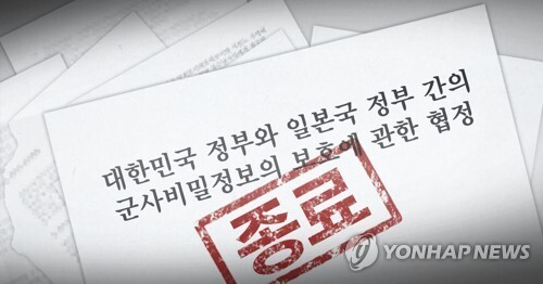 지소미아 종료 (PG) [정연주 제작] 일러스트