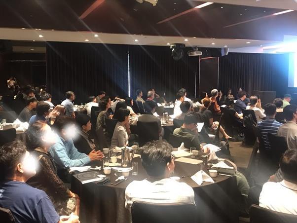 지난달 24일 서울 역삼동 아세아타워에서 열린 미국투자이민 설명회. 이날 설명회장엔 100여명이 참석했다. 사진=이민법인대양