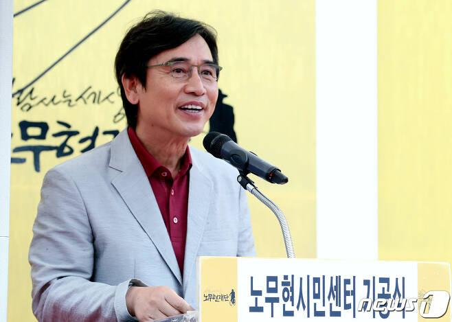 유시민 사람사는세상 노무현재단 이사장. 2019.9.4/뉴스1 © News1 박정호 기자