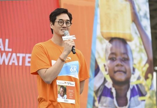 '글로벌 6K' 유지태 홍보대사 (사진= 월드비전 제공)
