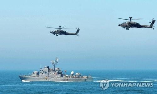 해군 2함대의 한미 합동 해상기동훈련 [자료사진.해군2함대]