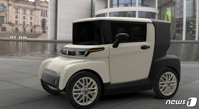 SNK모터스가 내년 국내 출시 계획하고 있는 뉴웨이(NEUWAI)' 브랜드의 소형 전기차. © 뉴스1