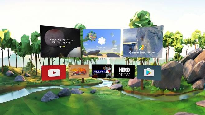 구글 데이드림 화면