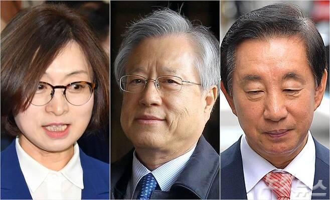 왼쪽부터 은수미 당시 민주통합당 의원(현 성남시장), 이석채 전 KT 회장, 김성태 자유한국당 의원 (사진=노컷뉴스DB)