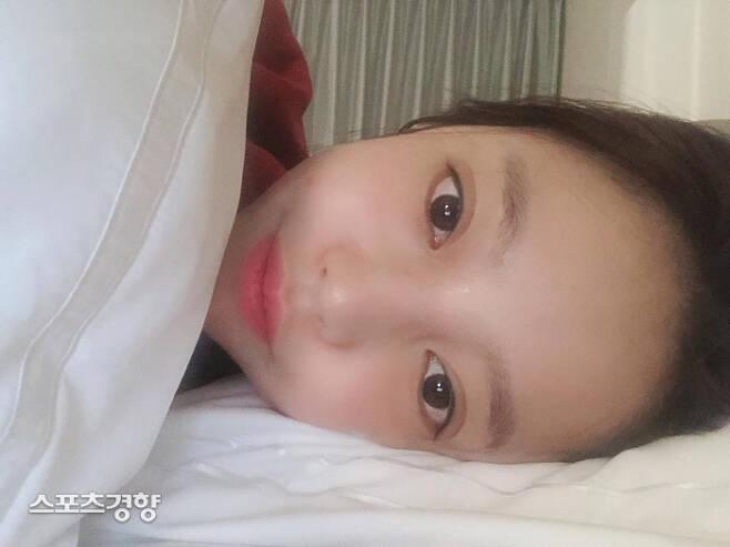 구하라가 남긴 셀카 사진과 함께 '잘자'라는 짧은 글귀가 마지막 게시물이 됐다. 구하라 SNS