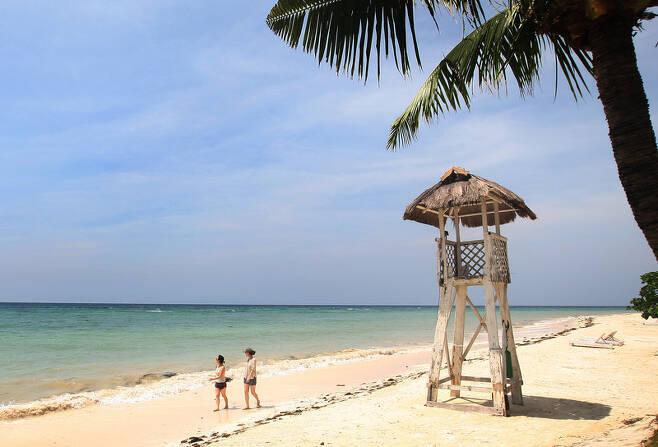 필리핀 세부 해변. <한겨레 > 자료 사진