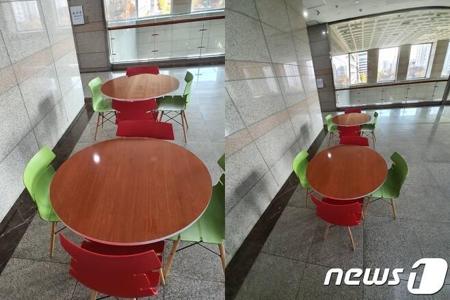 일반 렌즈로 찍은 사진(왼쪽)과 같은 위치에서 광각렌즈로 찍은 사진. 2019.11.28. /뉴스1 © 뉴스1 김정현 기자
