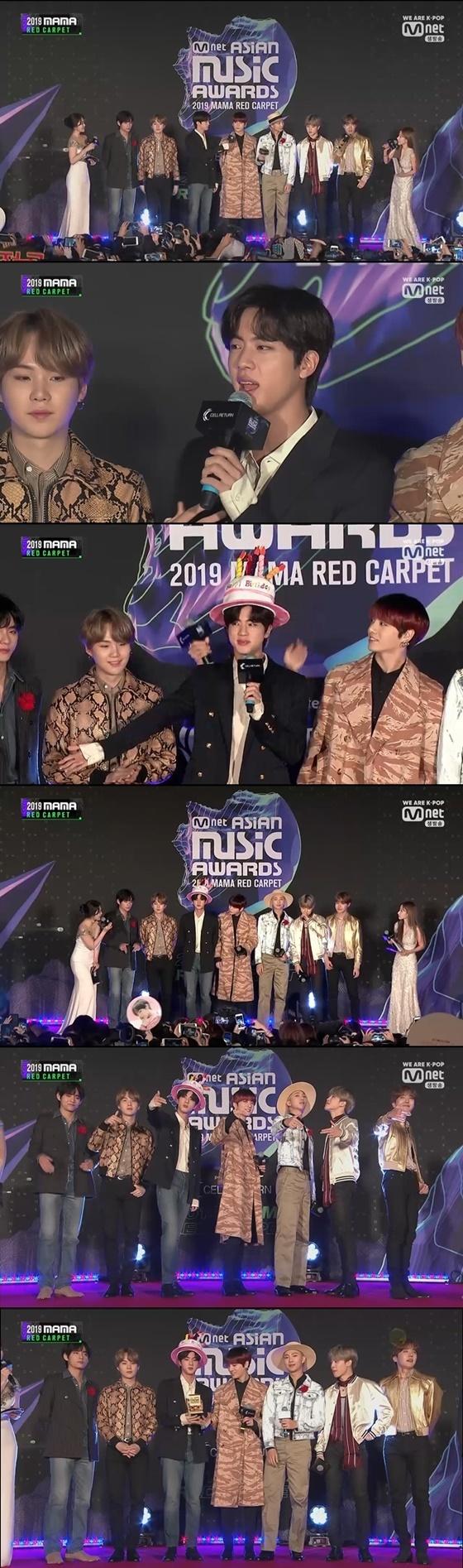 그룹 방탄소년단 /사진=엠넷 '2019 마마(2019 Mnet Asian Music Awards)' 방송화면 캡처