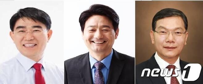 민주  '빅3''. 왼쪽부터 노관규, 서갑원, 장만채./뉴스1 © News1 지정운 기자