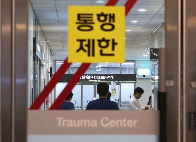 아주대병원 외상센터 내부 모습. 오종택 기자