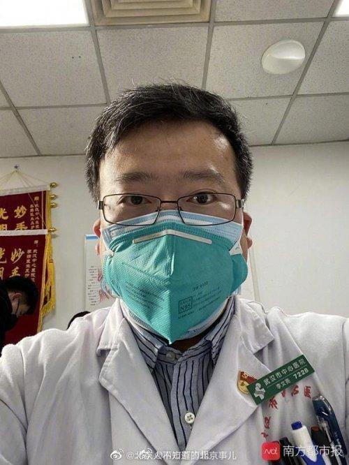 중국 우한시에서 지난해 12월 처음으로 신종 코로나 바이러스 감염증상을 보인 환자 7명을 치료한 뒤 이 같은 사실을 동료 등에게 알렸던 안과의사 리원량 박사.
