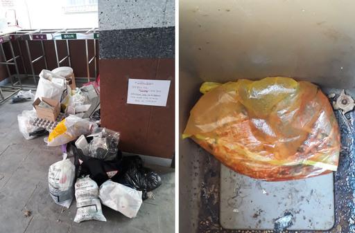 지난달 21일 서울 성북구의 한 청년매입임대주택 1층에 쓰레기가 여전히 분리 배출되지 않은 채 쌓여있다. 제보자 제공