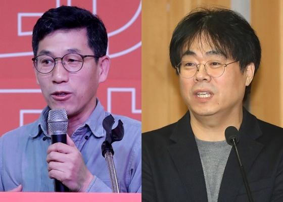 진중권 전 동양대 교수(왼쪽)와 김경율 전 참여연대 공동집행위원장./사진=뉴스1