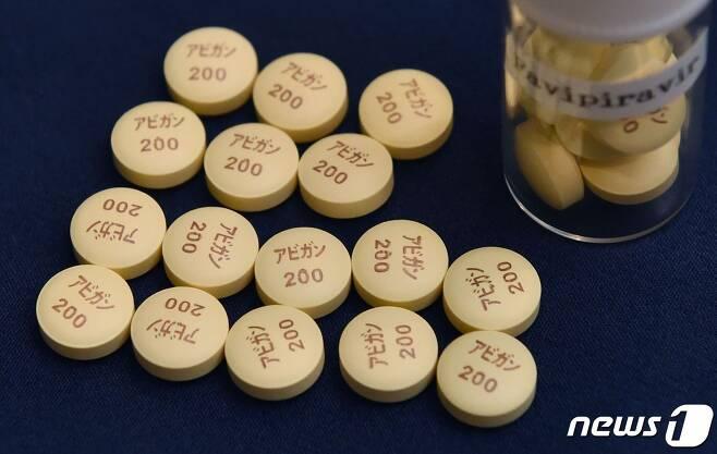 일본 후지필름 자회사 도야마화학이 개발한 항바이러스제 '아비간' <자료사진> © AFP=뉴스1