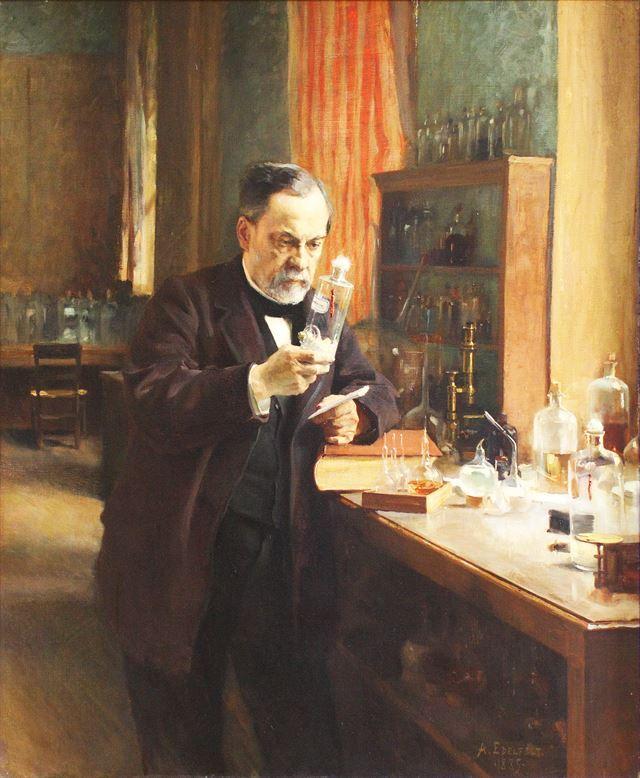 오르세미술관에 소장된 알베르트 에델펠트의 루이 파스퇴르(Louis Pasteur) 초상화.