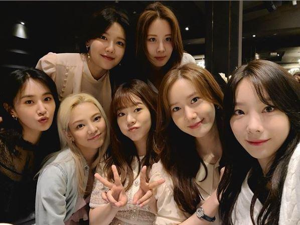 ▲ 그룹 소녀시대. 출처ㅣ윤아 SNS
