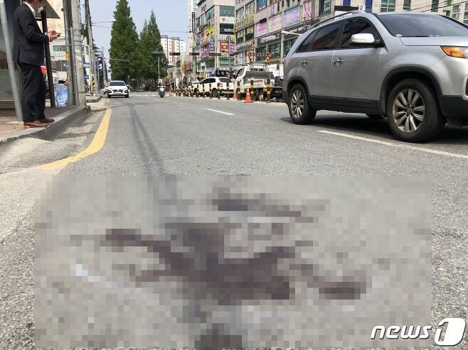 스쿨존 두 살배기 사망사고 현장2020.5.22 /© 뉴스1