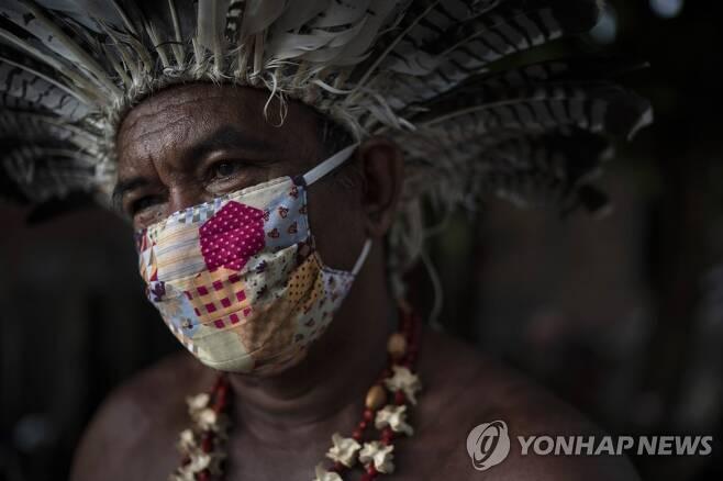 브라질 아마조나스주 마나우스의 원주민 [AP=연합뉴스 자료사진]
