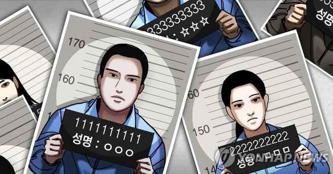 피의자 사진 공개 (머그샷) (PG) [정연주 제작] 일러스트