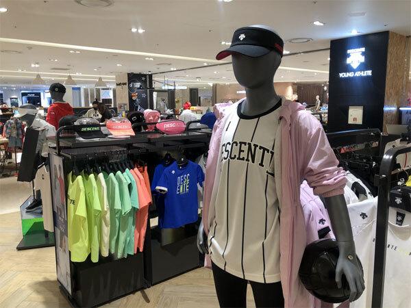 일본 브랜드 데상트 키즈 매장인 `데상트 영애슬릿`이 오프라인 매장 운영을 중단하기로 결정했다. 국내 총 47곳 매장은 올해 8월까지만 운영된 후 일반 매장으로 흡수된다. 사진은 서울 대형 백화점에 있는 데상트 영애슬릿 매장. [한주형 기자]