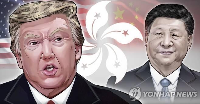 홍콩보안법 제정 관련 미중 갈등 (PG) [장현경 제작] 일러스트