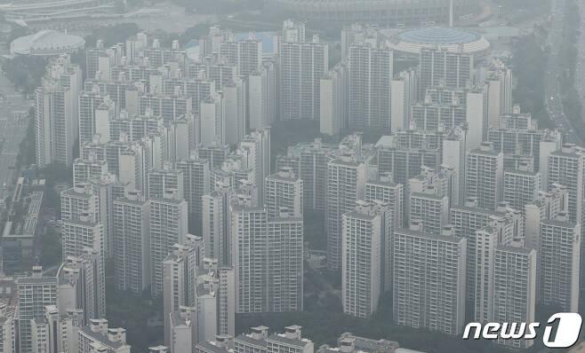 서울 일대 아파트 단지의 모습.© News1 박지혜 기자