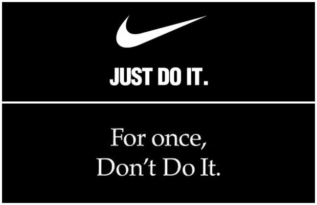 나이키가 30년 이상 캐치프레이즈로 사용하고 있는 'Just Do It'(일단 해봐) 대신 'Just Once, Don't do It'(이번 한번만이라도, 하지 마라)이라는 문구를 활용해 인종차별에 참지 말 것을 시사하는 강력한 메시지가 담긴 새로운 광고를 선보였다.