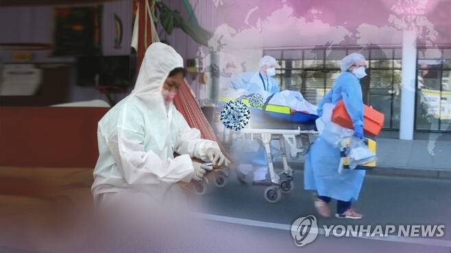 전세계 코로나19 현황 (CG) [연합뉴스TV 제공]