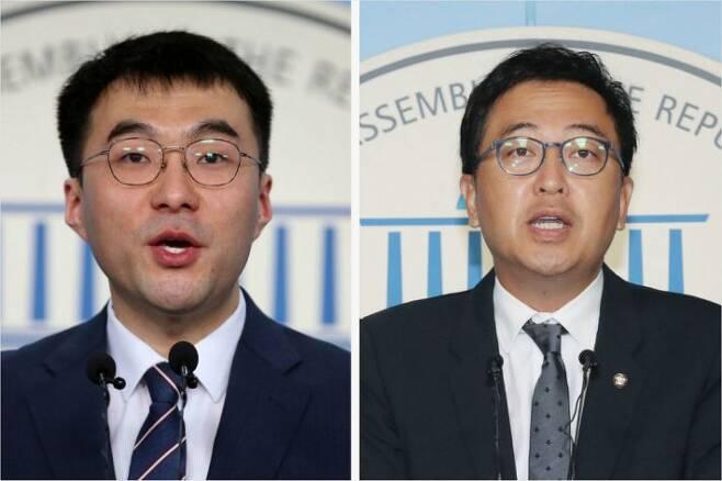 더불어민주당 김남국 의원과 금태섭 전 의원(사진=연합뉴스)