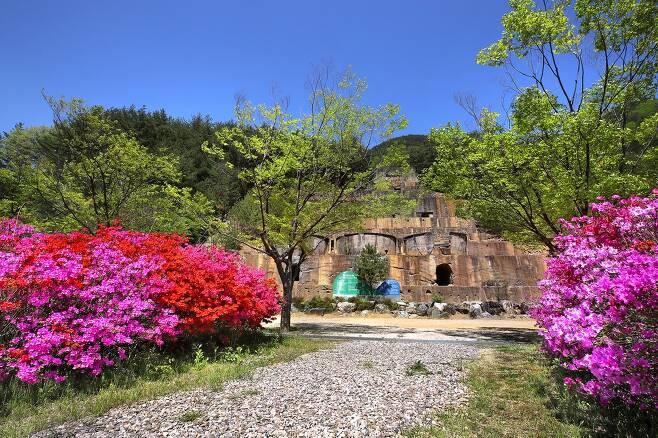 자생화공원 안에 있는 일제강점기 선광장 [사진/전수영 기자]
