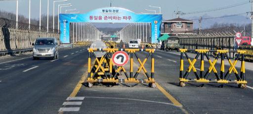 경기 파주시 통일대교를 차량들이 오가고 있다. 세계일보 자료사진