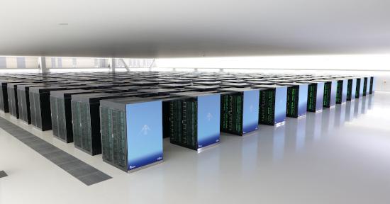 일본의 슈퍼컴퓨터 ′후가쿠′의 모습. 일본이화학연구소 제공