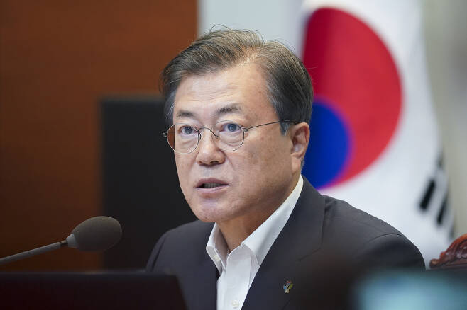문재인 대통령이 22일 청와대에서 열린 제6차 공정사회 반부패정책 협의회에서 발언하고 있다. 2020. 6. 22 도준석 기자pado@seoul.co.kr