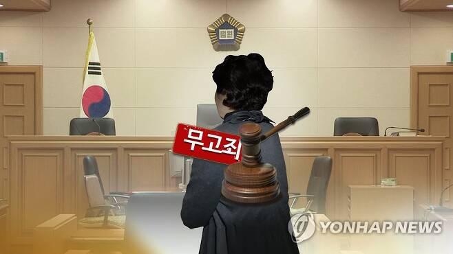 """무고""""(CG) [연합뉴스TV 제공. 재판매 및 DB 금지]"""