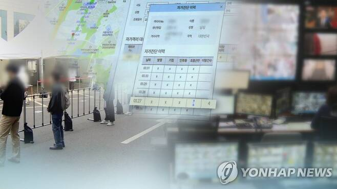 자가격리 위반(CG) [연합뉴스TV 제공. 재판매 및 DB 금지]