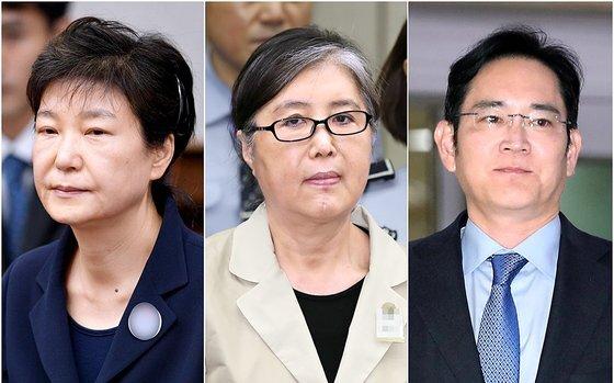 이재용 삼성 부회장은 박근혜 전 대통령·최서원씨(개명 전 최순실)일가에게 총 433억2800만원의 뇌물을 주거나 약속한 혐의(뇌물공여)로 구속 기소 됐다. [연합뉴스]