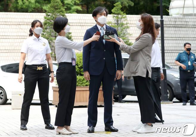 '유재수 감찰무마 혐의'를 받고 있는 조국 전 법무부 장관/뉴스1 © News1 김진환 기자