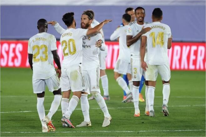 레알 마드리드는 헤타페를 꺾고 6연승의 좋은 흐름과 함께 2019~2020 스페인 프리메라리가 우승 도전을 이어갔다.(사진=연합뉴스)