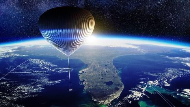 성층권 비행선은 높이가 200미터에 이른다.