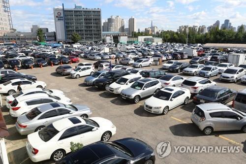 중고차 시장 [연합뉴스 자료사진]